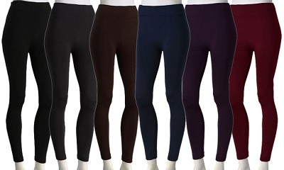 3-Pack Midnight Black Fleece Lined Leggings X-Large Size ( 1X/2X )