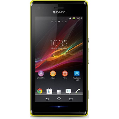 Mobile Xperia M C1904 Smartphone - Wi-Fi - 3G - Bar - Lime