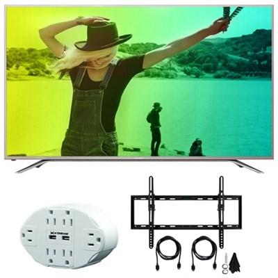 Aquos N7000 43` Class 4K Ultra WiFi Smart LED HDTV 43N7000U w/Mount Bundle