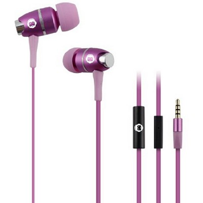 In-Ear Headphones with Mic - Pink