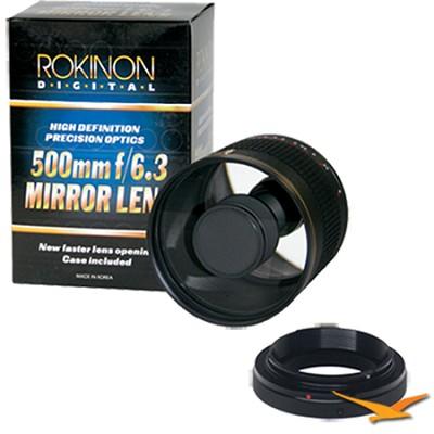 500mm F6.3 Mirror Lens for Samsung NX (Black Body) - ED500M-B