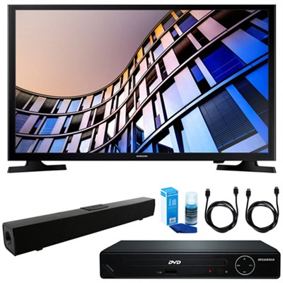 23.6` 720p Smart LED TV w/ HDMI DVD Player & Sound Bar Bundle