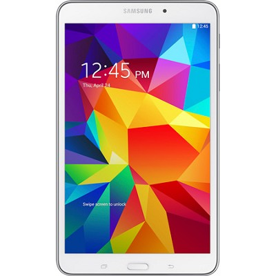 Galaxy Tab 4 White 16GB 8` Tablet - 1.2 GHz Quad Core Proc,Android 4.4, OPEN BOX