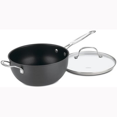Chef's Classic Nonstick 4-Quart Chef's Pan w/ Glass Cover (6354-24H)