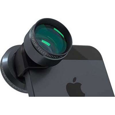Telephoto Lens + Circular Polarizer for iPhone 4/4S (Black)