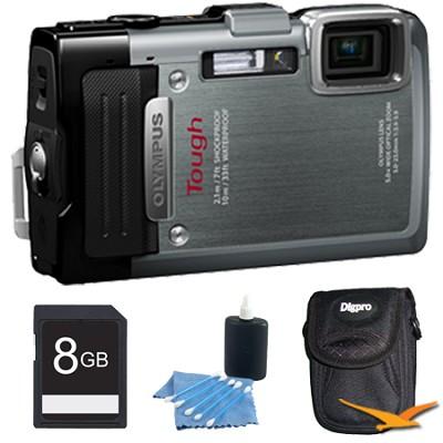 TG-830 iHS STYLUS Tough 16 MP 1080p HD Digital Camera Silver 8GB Kit