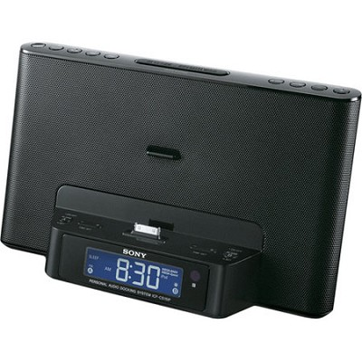 ICF-CS15IPBLK Speaker Dock for iPod and iPhone (Black) - OPEN BOX