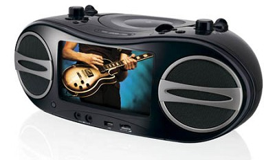 BD707B Portable DVD Boom Box With a built-in 7` LCD screen