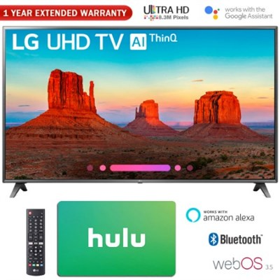 75` Class 4K HDR Smart LED AI UHD TV w/ThinQ + Gift Card & Warranty Pack