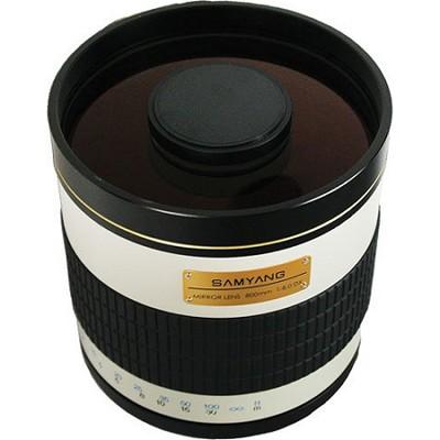 800mm F8.0 Mirror Lens - White Body