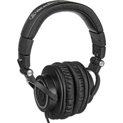 Professional Closed-Back Studio Headphones Straight Cable Refurbished ATH-M50SRB
