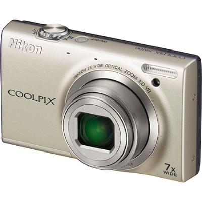 COOLPIX S6100 16MP Silver Digital Camera w/ HD Video
