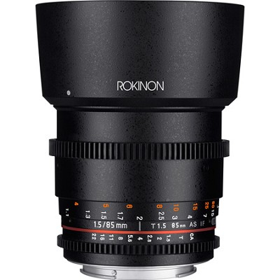 DS 85mm T1.5 Full Frame Cine Lens for Canon EF Mount