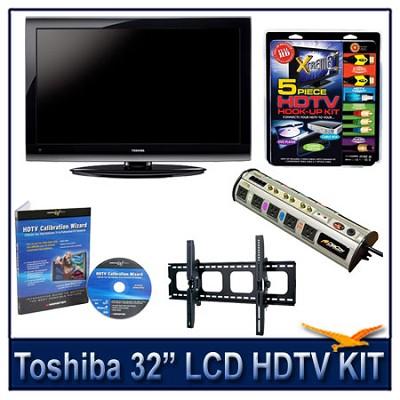 32` 1080p LCD HDTV + Hook-up Kit + Power Protection + Calibration + Tilt Mount