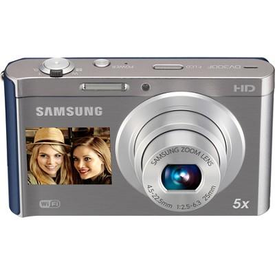 DV300F 16 MP 5X Wi-Fi Dual View  Digital Camera - Silver/Blue OPEN BOX