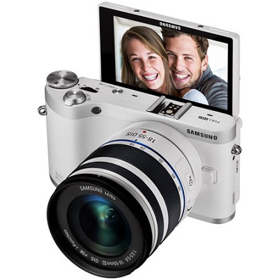 NX300M Mirrorless Digital Camera with 18-55mm f/3.5-5.6 ED Lens (White)