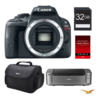 EOS SL1 DSLR Camera (Body), 32GB, Printer Bundle