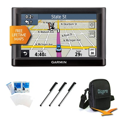 nuvi 52LM 5.0` GPS Navigation System with Lifetime Map Updates Essentials Bundle