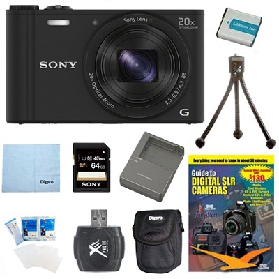 Cyber-shot DSC-WX350 Digital Camera Black 64GB Kit