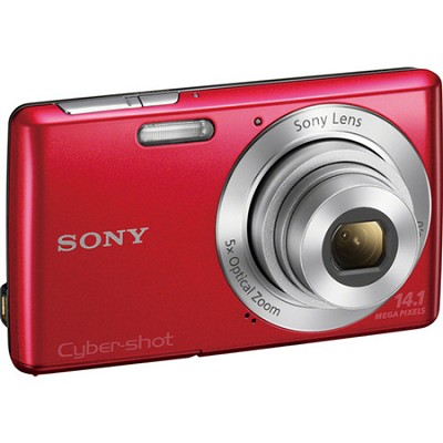 Cyber-shot DSC-W620 Red Compact Digital Camera 5x Optical Zoom, HD Video