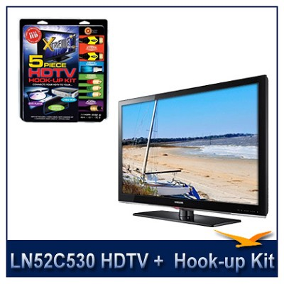 LN52C530 - 52` HDTV + High-performance Hook-up & Maintenance Kit