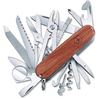 Champ Limited Edition Hardwood Handle Swiss Army Knife - 53526