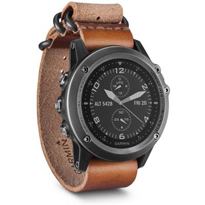 Fenix 3 Sapphire GPS Watch - Gray w/ Leather Strap (010-01338-80)