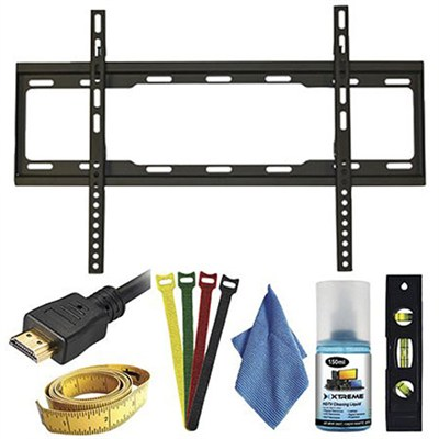 7pc Ultra Slim Fixed TV Wall Mount kit for TVs 37-70 inches