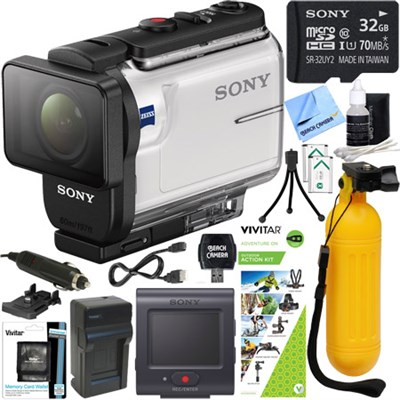 HDR-AS300R Action Cam w/ Live View Remote + Outdoor Action Kit & Memory Bundle