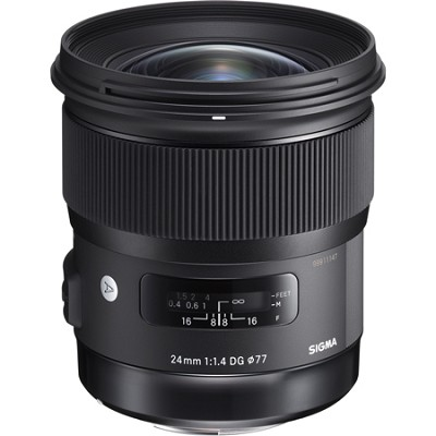 24mm f/1.4 DG HSM Wide Angle Lens (Art) for Sony DSLR Camera Mount