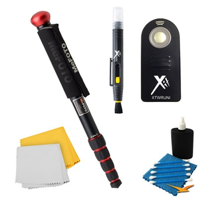 WalkAbout Red Monopod Accessory Kit