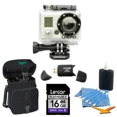HD Hero 960P Camcorder `Epic` Kit with 16GB SD Card!