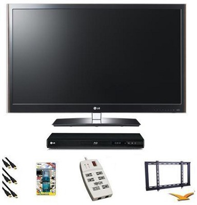 55LV5500 - 55 inch 120hz 1080P LED Smart TV Bundle