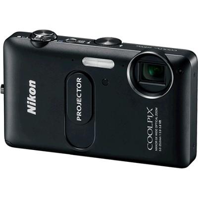 COOLPIX S1200pj Black 14MP Digital Camera w/ Projector