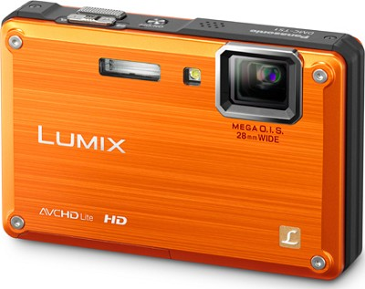 DMC-TS1D LUMIX 12.1 Megapixel TOUGH Digital Camera (Orange) Open Box