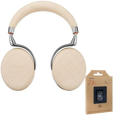 Zik 3 Wireless Noise Cancelling Bluetooth Headphones (Ivory) + Battery