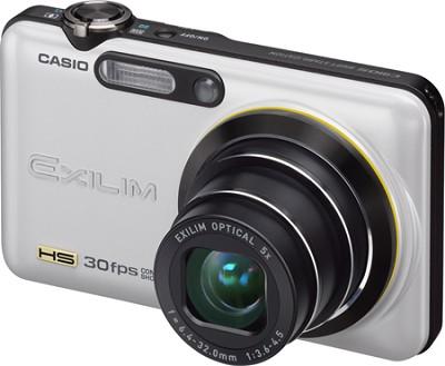 Exilim FC100 9MP 2.7` LCD Digital Camera (Pearl White) - OPEN BOX