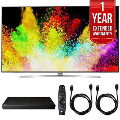 75` Super UHD 4K HDR Smart LED TV w/ Blu-ray Player + Extented Warranty Bundle