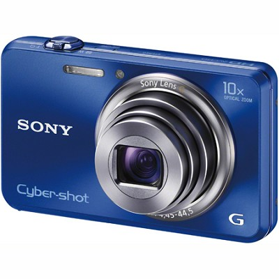 Cyber-shot DSC-WX150 18.2 MP 10x Optical HD Video 3D Sweep Camera (Blue)