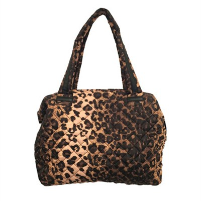 BVOYAGEE Dome Weekender Quilted Tote Bag - Leopard