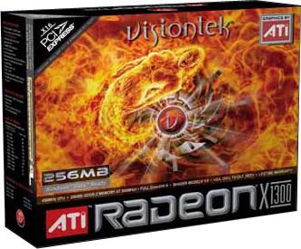 RETAIL RADEON X1300 PCIE 256MB DVI-I/VGA/S-VID W/VGA ADAPT 250W