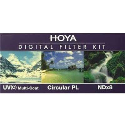 62mm Digital Filter Kit With UV, Circular Polarizer, NDX8 - OPEN BOX