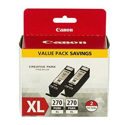 PGI-270XL Black Twin Value Pack
