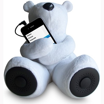 Teddy Speaker -The perfect addition to your iPod, iPhone, MP3 players (White)