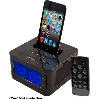 Home PICL52B Radio Alarm Clock Speaker System for iPod - Black
