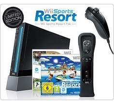 Wii Console with Wii Sports Resort & Wii MotionPlus (Black)
