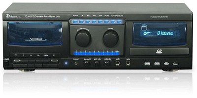 Professional DVD, CD & Cassette Player (Black)