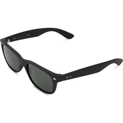 New Wayfarer 52MM Sunglasses Matte Black W/Black Lens