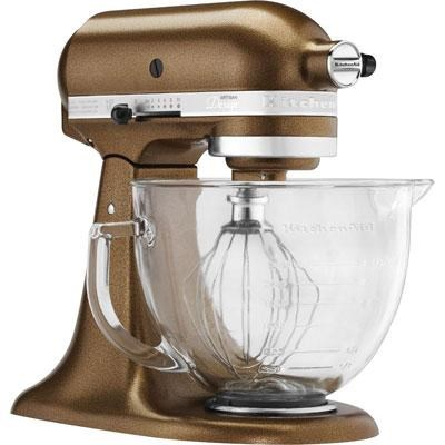 Artisan Series 5-Quart Stand Mixer in Antique Copper w/ Glass Bowl - KSM155GBQC