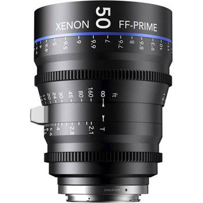 50MM Xenon Full Frame 4K Prime XN 2.1 / 50 Feet Lens for Sony E Mounts
